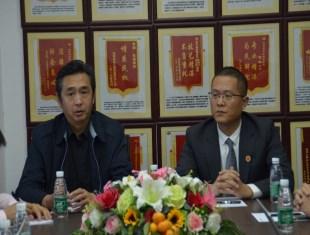 北京市海淀区司法局副局长谢伟和北京京平律师事务所主任赵健